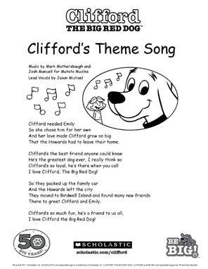 dog songs for preschoolers clifford scholastic preschool ideas 783