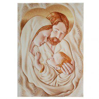 Cuadro Rectangular Sagrada Familia 30 x 42 cm | venta online en HOLYART
