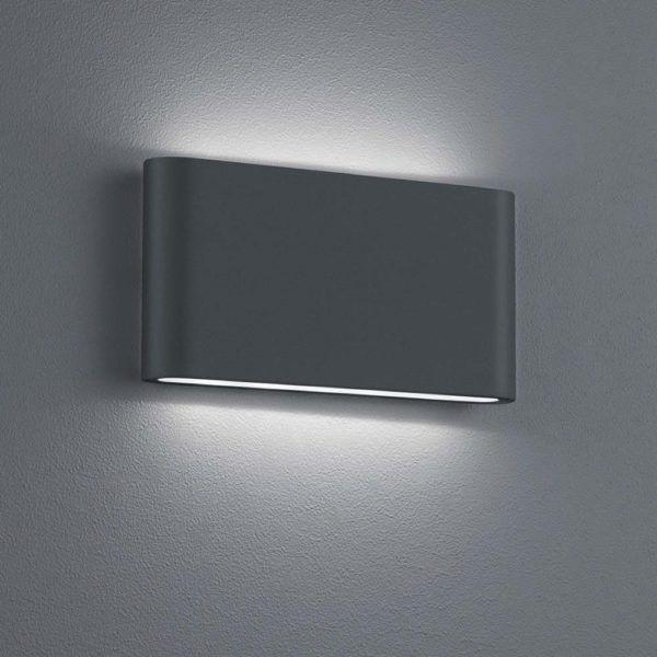 LED Wandleuchte mit Glasabdeckung, Ausführung in Chrom#led