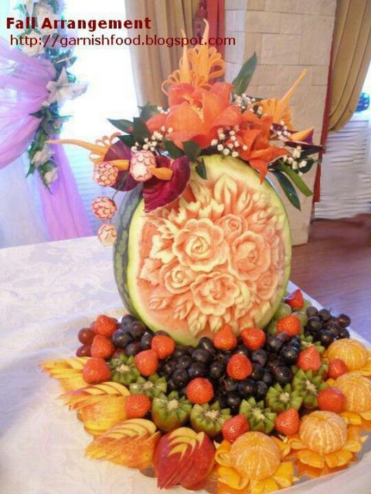 Best images about fruit food displays carvings on