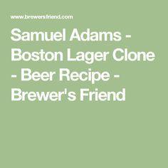 Samuel Adams - Boston Lager Clone - Beer Recipe - Brewer's Friend
