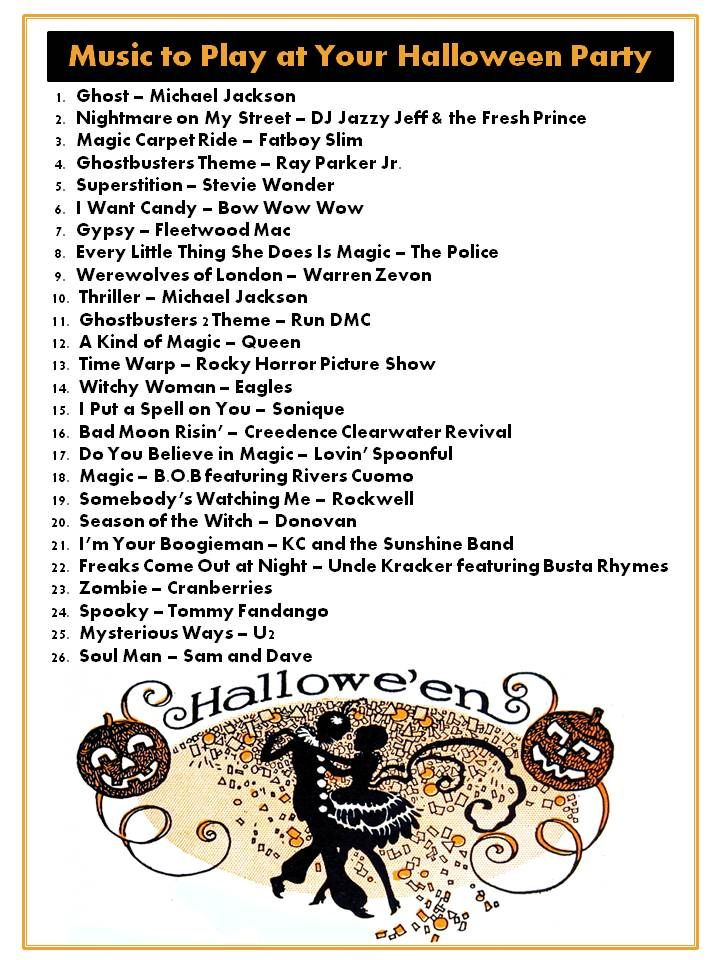 halloween music playlist what to play at your halloween party besides the monster mash - List Of Halloween Music