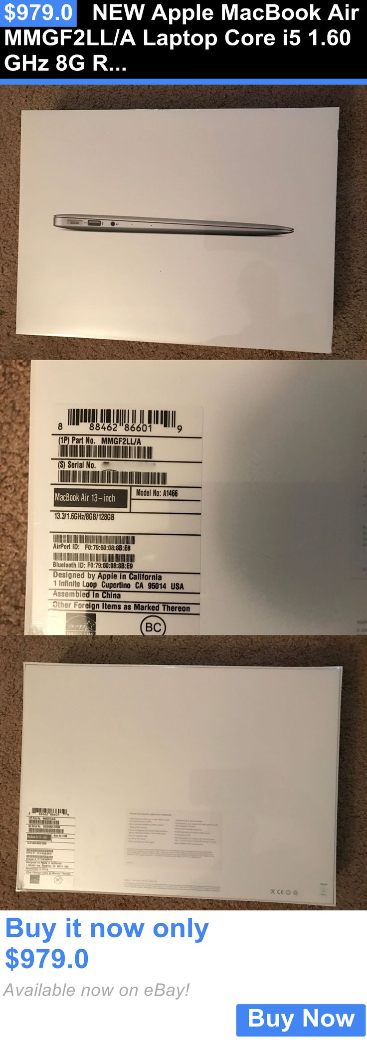 general for sale: New Apple Macbook Air Mmgf2ll/A Laptop Core I5 1.60 Ghz 8G Ram 128Gb Ssd 13.3 BUY IT NOW ONLY: $979.0