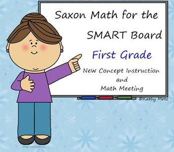 527 SMART Board pages for you to teach Saxon Math Grade 1!  Now even better! I have added 28 new lessons to this product and updated 61 other lessons!  You will find a total of 113 lessons, the Math Meeting board plus a lunch graph to useall for your SMART Board!