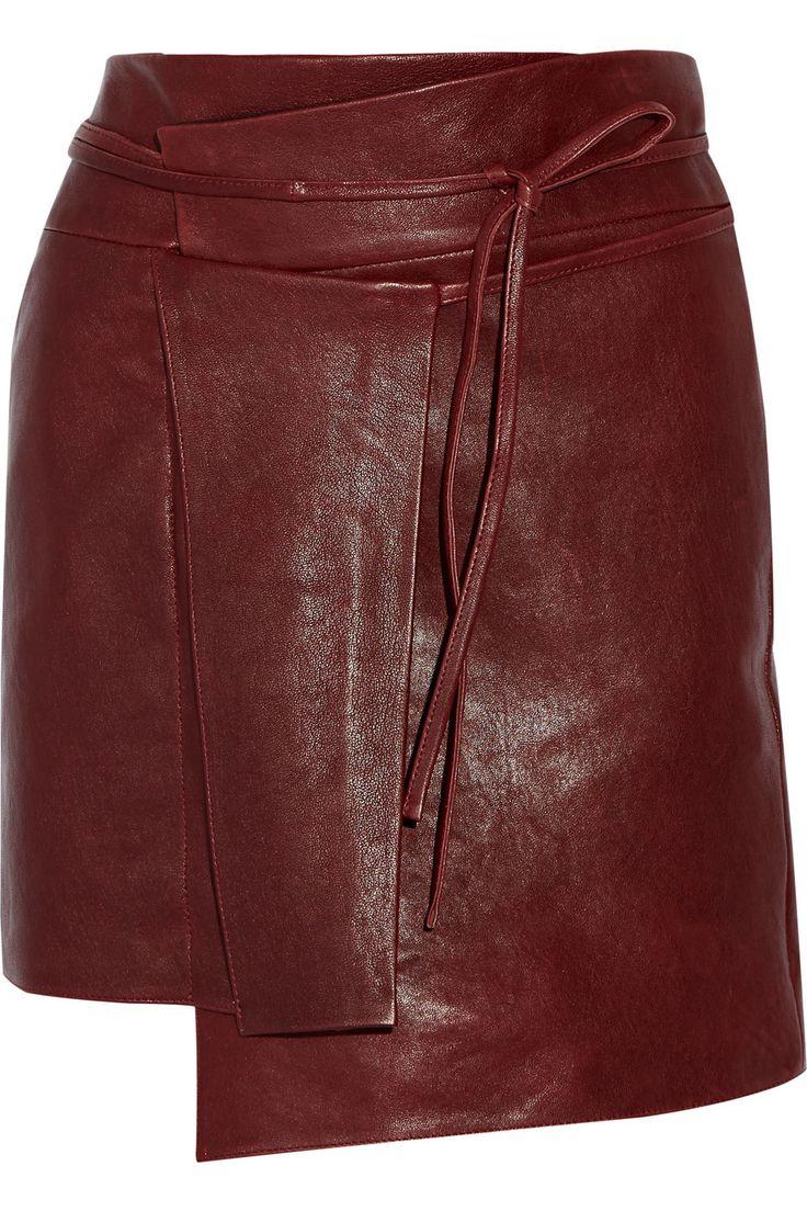 Isabel MarantFoften wrap-effect leather mini skirt