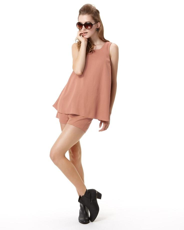 FREE'S SHOP DRESS CLEARANCE ピンクベージュ  ブラウス付サロペットアンサンブル - ファミリーセールなら、グラムール セールス