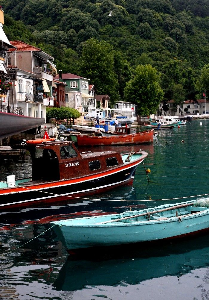 """Anadolu Kavağı, İstanbul , Turkey """"Captain Sami brought the boat into the dock at Anadolu Kavaği, the last village on the Asian side of the Bosporus before the Black Sea. The dock was located right on the main square, which was lined with fish restaurants and small shops."""""""