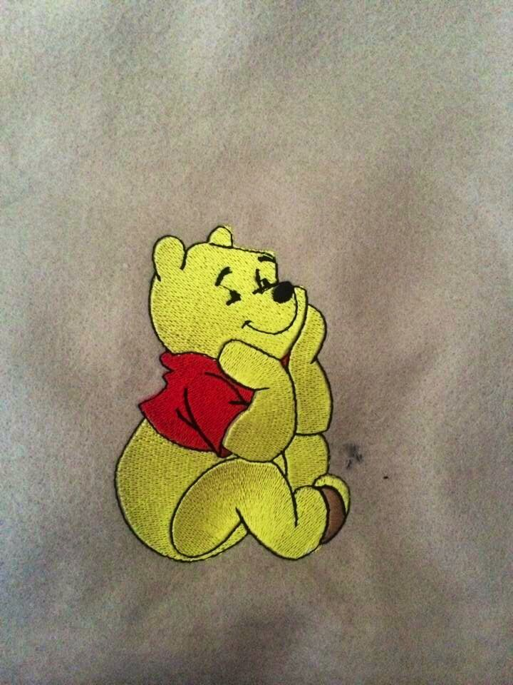 Winnie the Pooh vests and bibs, names can be added:) let us know if you want one :)