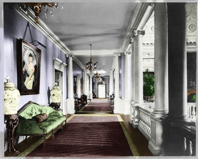 Whitemarsh Hall 2nd Floor Living Hall Colorized By Chris