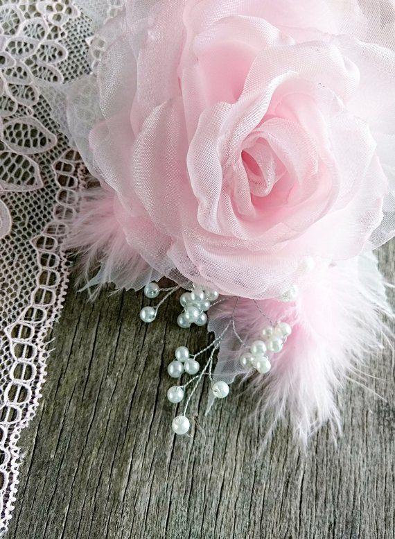 Fabric Rose Flower Hair Clip Pink Flower Brooch Pink Etsy Pink Flower Brooch Fabric Flowers Fabric Roses