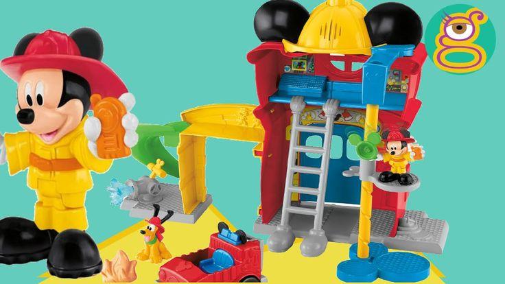 Mickey Mouse parque bomberos Mickey Mouse bombero juguete Mickey Mouse fireman