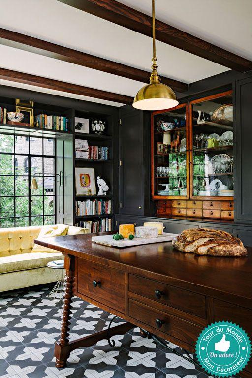 Mon décorateur dintérieur une cuisine noir et or · decoratrice interieurbeguecuisine noircontenteenviecuisinesbureauidee decola maison