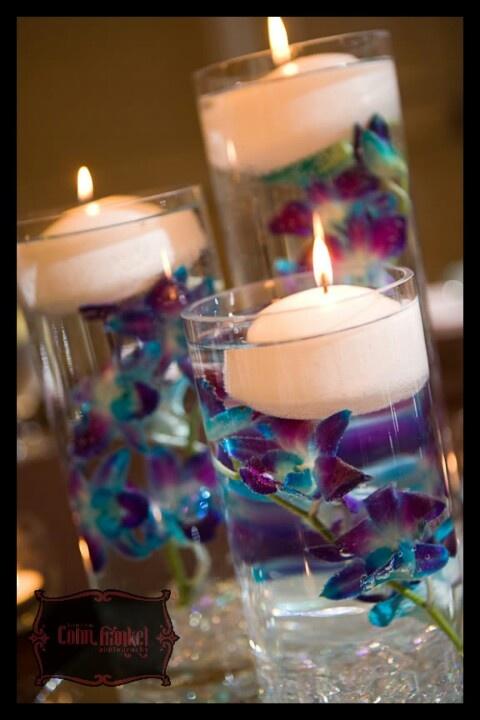 Purple blue orchids (except in mason jars!!)