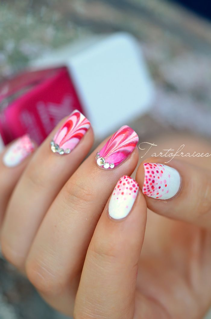 #NailArt rose et corail - #vernis #manucure