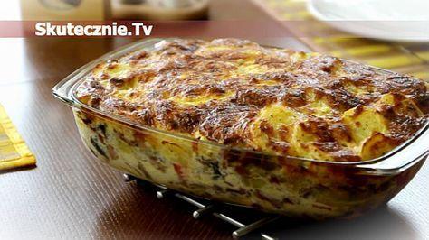 Zapiekanka ziemniaczana z kiełbasą i pieczarkami Potato, sausage casserole ( In Polish)