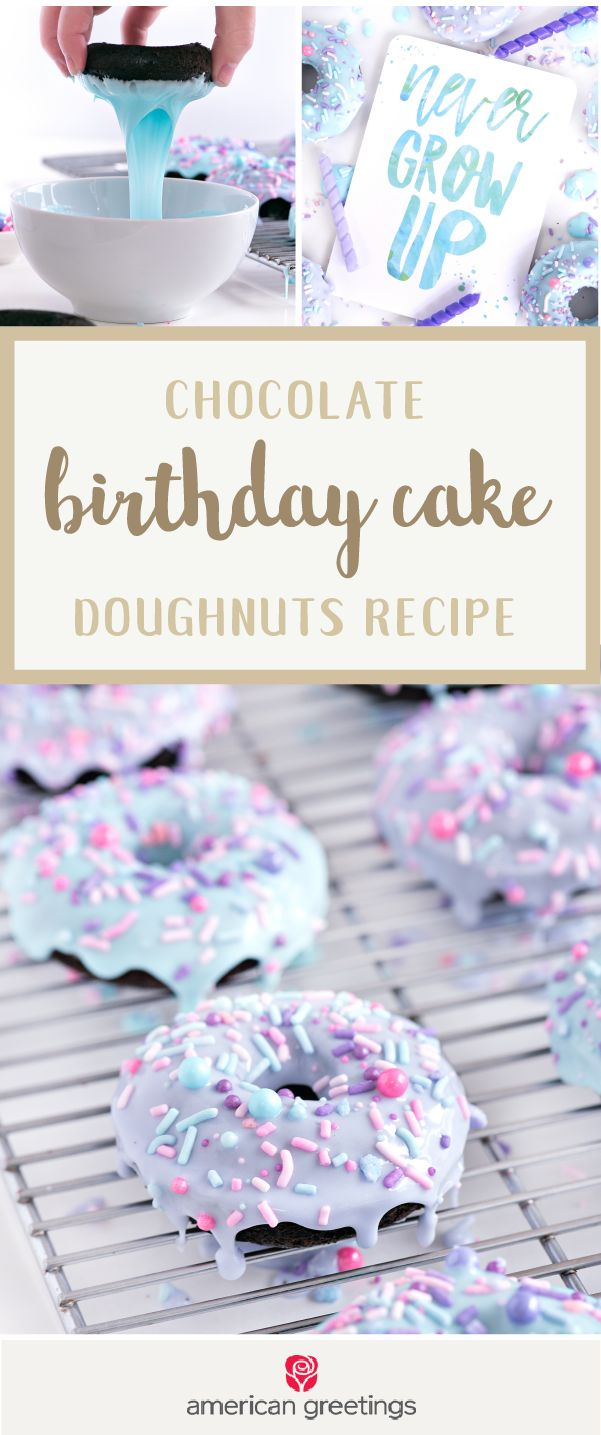 When your kiddo or friend wakes up on their birthday there's nothing like a homemade sweet treat to surprise them! And when you pair these Chocolate Birthday Cake Doughnuts with a cute greeting card from Target, you've got everything you need for a thoughtful and delicious gift idea.