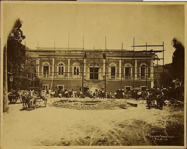 Palácio Isabel, residência da Princesa Isabel na cidade do Rio de Janeiro,. antes das reformas que o transformaram no atual Palácio Guanabara.