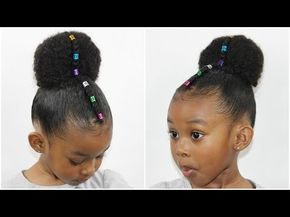 Rainbow Bun with Cornrow | Cute Girls Hairstyle [Video] - Black Hair Information