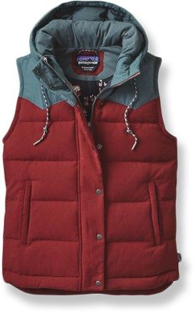 Patagonia Bivy Hooded Best - Drumfire Red - $179
