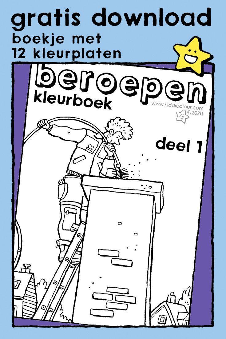 Kleurboek Beroepen Deel 1 Kiddikleurprenten Kiddikleurplaten Kleurboek Kleurplaten Educatieve Spellen