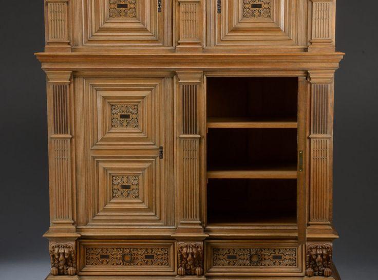 Купить старинный антикварный шкаф буфет в стиле барокко массив дуба первая половина 20 века, продажа старинной мебели антикварный интернет-магазин Antekvar.ru в Москве (6)