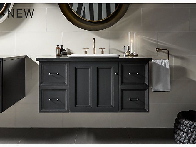 Pics Of This Damask vanity cabinet reflects the rich details found in colonial American architecture Complete your bathroom vanity with a coordinating top