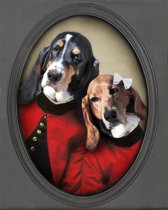 Valentines Day  Basset Hound Art  Love Print  by TheLonelyPixel, $30.00