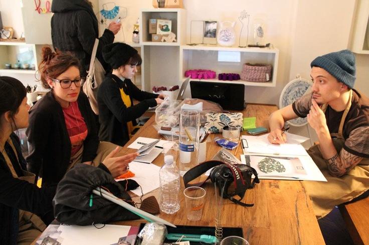 WEEKO: WORKSHOP AT APPARTAMENTO LAGO-BRERA MILANO.  PHOTO: IDESIGNME  https://www.facebook.com/pages/Weeko/225904297509593?ref=ts=ts  http://weeko-clothing.blogspot.it/