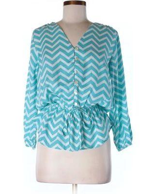Escapada Escapada 3/4 Sleeve Blouse (Size 0): Blue Women's Tops - 7112473 from thredUP | ShapeShop