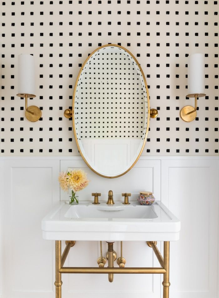 Powder Room Wallpaper Ideas Chic Bathrooms Bathroom Interior Residential Interior Design In 2020 Powder Room Wallpaper Powder Room Design Chic Bathrooms