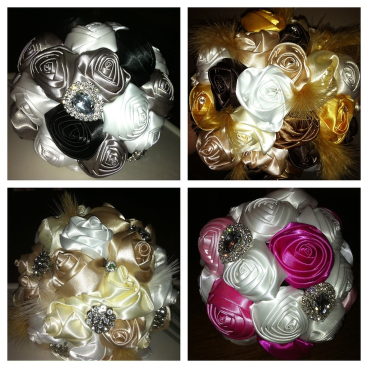 Bridal/bridesmaids bouquet samples.. Made by me... www.facebook.com/floweretteau