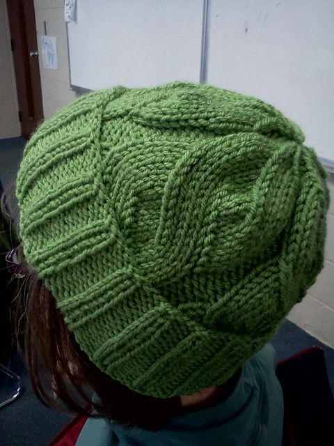 Knit hat cable free pattern