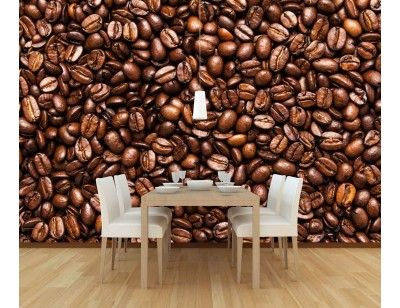 "Mural ""Coffee Beans"". A wallpaper mural from Muralunique.com."