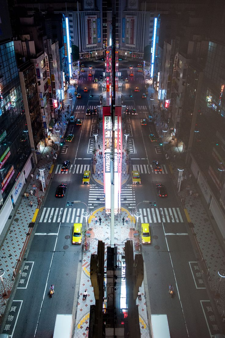 The Other Side of the Street by burningmonk.deviantart.com on @deviantART - An enjoyable near-symmetrical look at Shibuya.