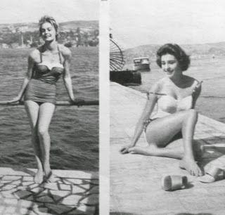 1958 İstanbul Büyükada Avrupa güzellik yarışması Finlandiya ve Hollanda güzelleri.