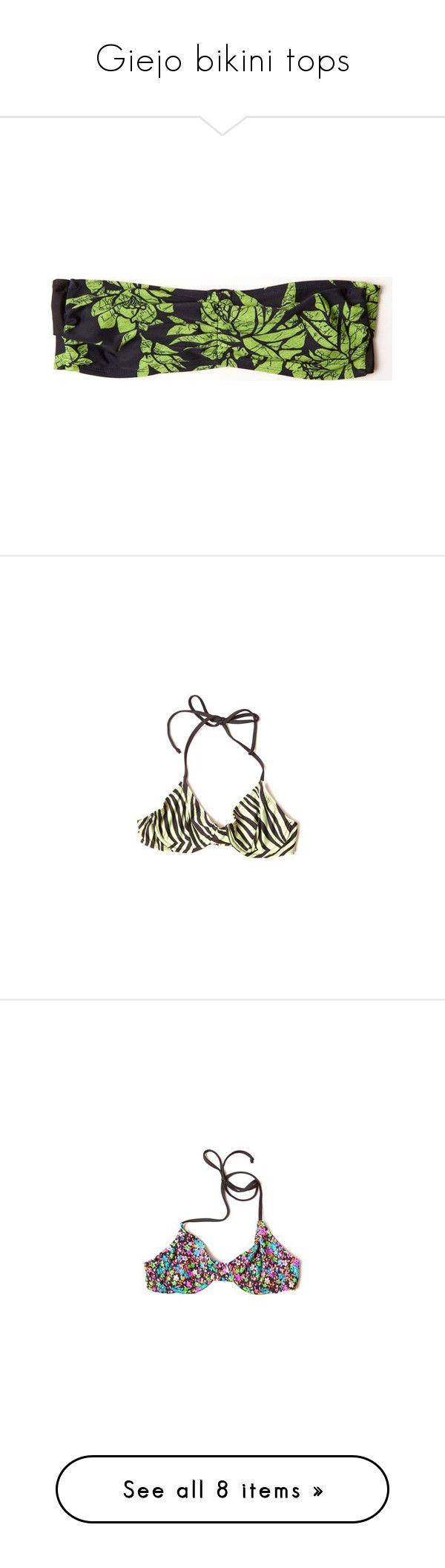 """Giejo bikini tops"" by runway2street ❤ liked on Polyvore featuring bikini, giejo, runway2street, swimwear, bikinis, sexy swimsuits, high waisted swimsuit, high waisted swim suit, halter bikini top and retro swimsuit"