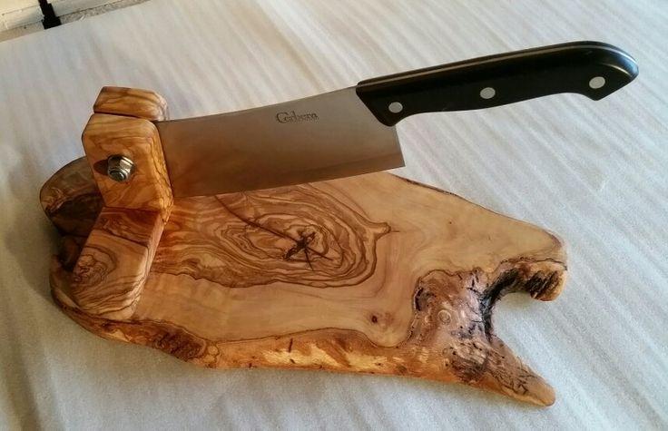 Olive wood biltong cutter/slicer