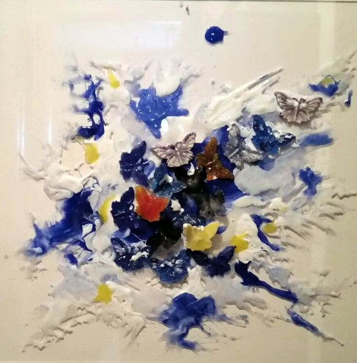 Splash...cm 50x50 mixed media on plexiglass....