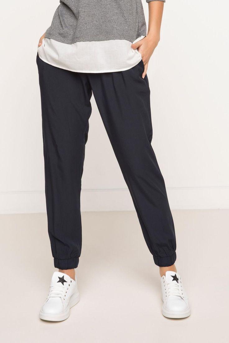 Lacivert Kadın Yüksek Bel Pantolon 707369 | DeFacto