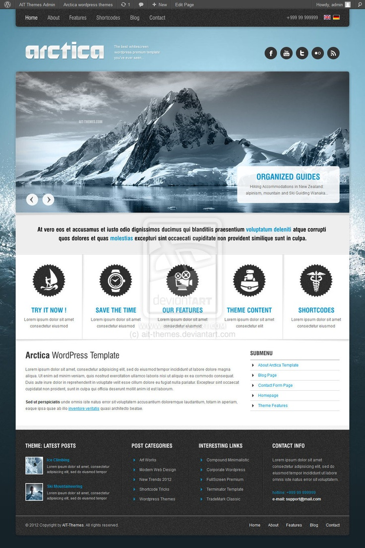 Artica Wordpress Theme  by ~ait-themes