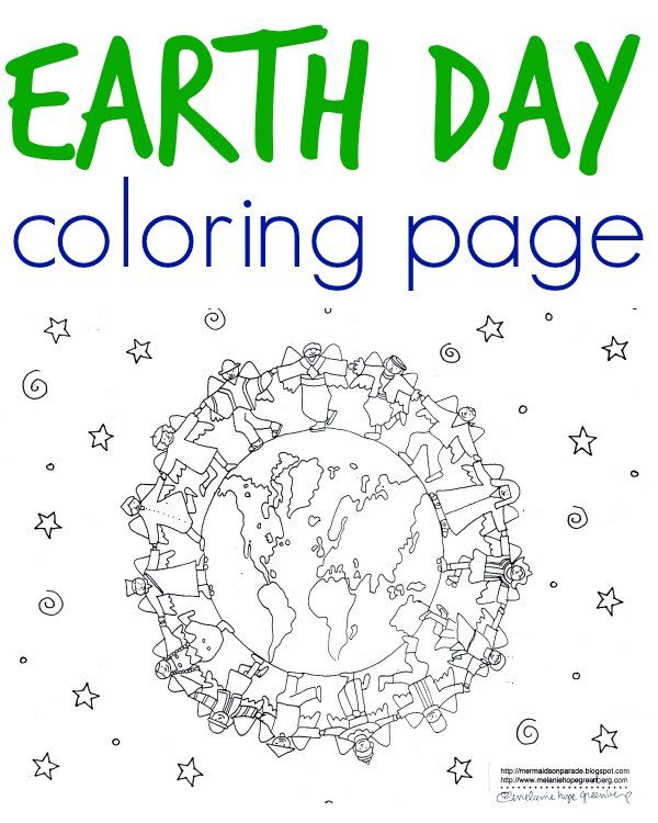 Free, printable earth coloring page for kids to color. Illustration from an environmentally printed children's book. Perfect kids' activity for Earth Day.