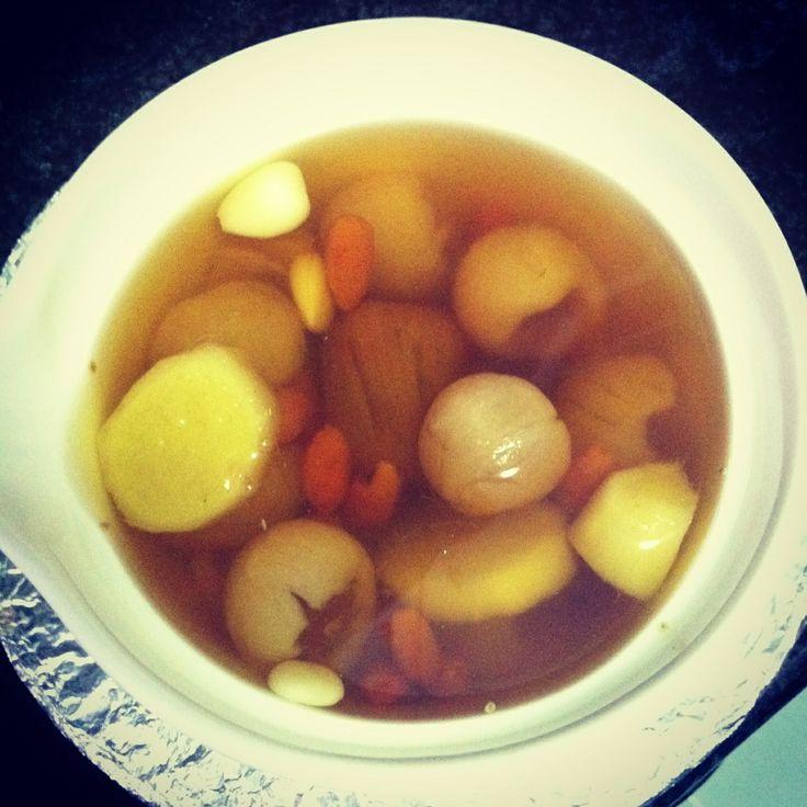 Chinese longan tea