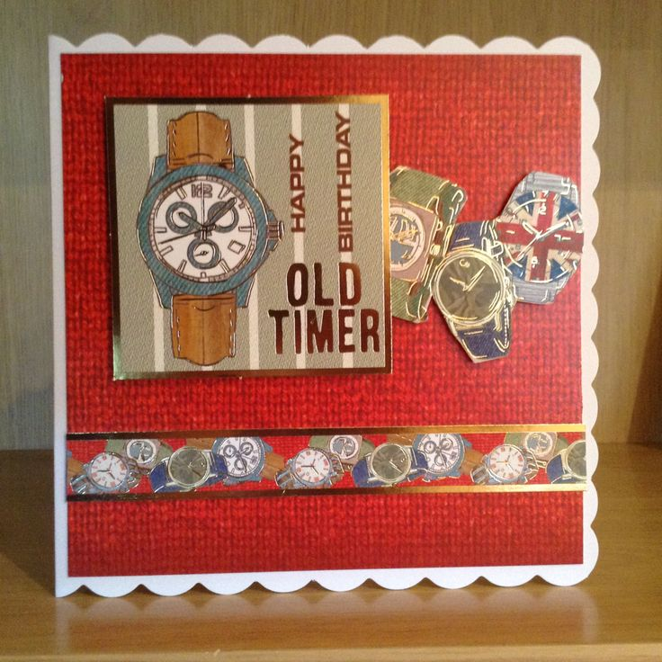 Handmade Hunkydory Happy Birthday Old Timer mans card