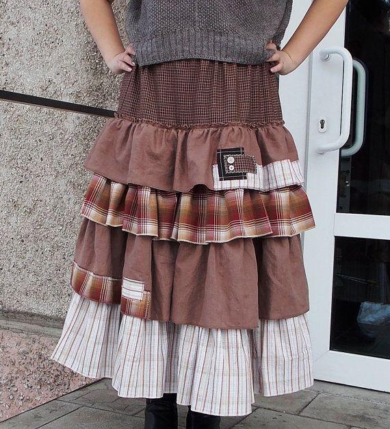 Maxi skirt.Boho skirt.Cinderella 2. Многослойная by BohoEklektika