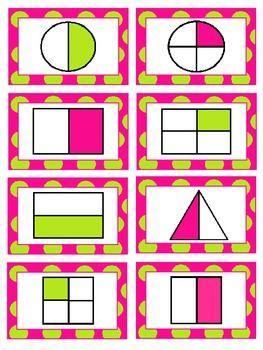 Fraction worksheets and games for K-2