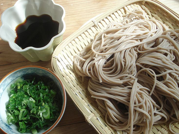 Soba Noodles  Great Japanese cold dish for a hot summer day.    I just enjoyed some...So refreshing!