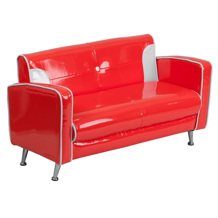 The Kids Red and White Loveseat by @Barcelona Designs can be placed in that quaint corner of your home for Kids.  https://www.barcelona-designs.com/products/kids-red-and-white-loveseat #homedecor #loveseat #barcelonadesigns #midcentury #interiordesigns