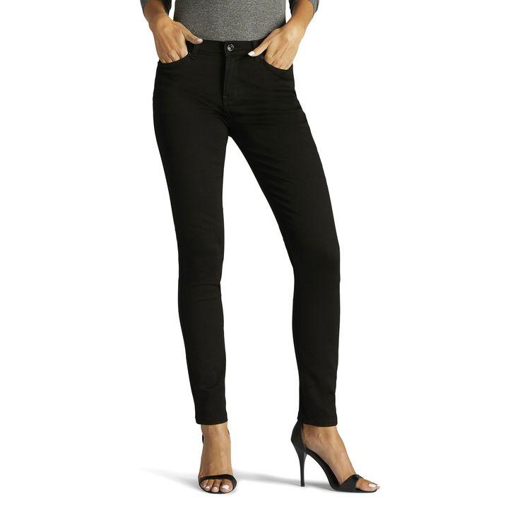 Women's Lee Rebound Slim Fit Skinny Jeans, Size: 4 - regular, Black