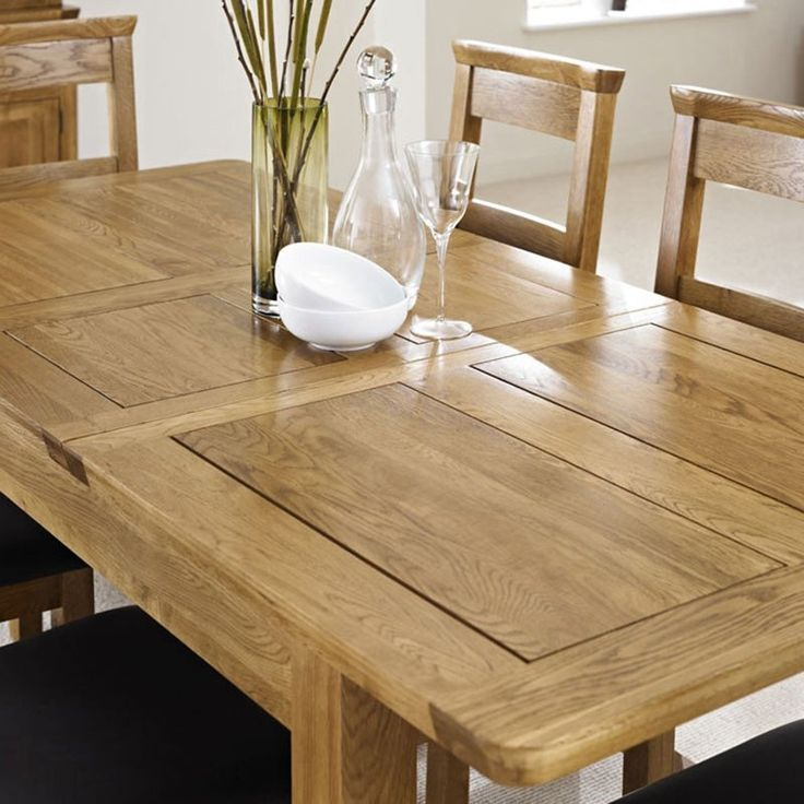 Knightsbridge Solid Oak Extending Dining Table 150 195cm Dining Table Ametis Space Oak Extending Dining Table Extendable Dining Table Dining Table