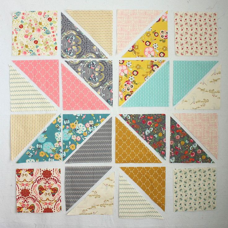 1577 Best Half Square Triangle Quilts Images On Pinterest